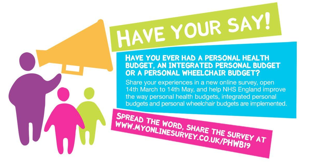 NHS England Is Running A Survey To Enquire About Personal Budget Holders' Experiences